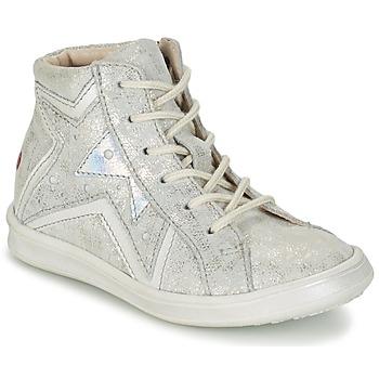 Schoenen Meisjes Hoge sneakers GBB PRUNELLA Grijs / Zilver