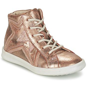 Schoenen Meisjes Hoge sneakers GBB PRUNELLA Roze / Goud
