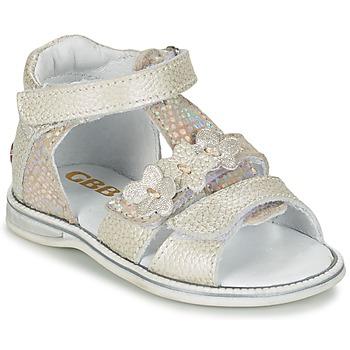 Schoenen Meisjes Sandalen / Open schoenen GBB PING Grijs / Zilver