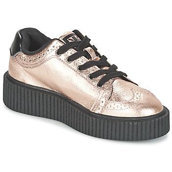 Schoenen Dames Lage sneakers TUK CASBAH CREEPERS Roze / Métallique