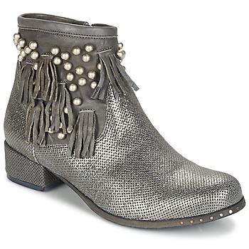 Schoenen Dames Laarzen Mimmu MOONSTROP Taupe / Zilver