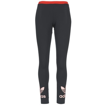 Textiel Dames Leggings adidas Originals TREFOIL LEGGING Zwart / Roze