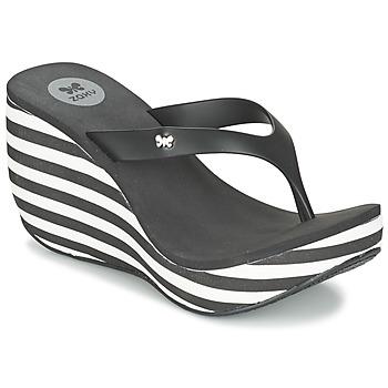 Schoenen Dames Slippers Zaxy LIPSTICK V Zwart / Wit