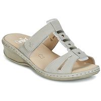 Schoenen Dames Leren slippers Caprice VILIALE Grijs
