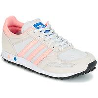 Schoenen Kinderen Lage sneakers adidas Originals LA TRAINER J Wit / Roze