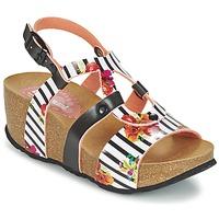 Schoenen Dames Sandalen / Open schoenen Desigual BIO 9 FLORES Zwart / Wit / Bloem