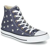 Schoenen Dames Hoge sneakers Converse CHUCK TAYLOR ALL STAR DENIM FLORAL HI Marine / Geel / Wit