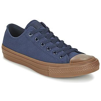 Schoenen Heren Lage sneakers Converse CHUCK TAYLOR ALL STAR II TENCEL CANVAS OX Marine / Brown