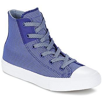 Schoenen Kinderen Hoge sneakers Converse CHUCK TAYLOR ALL STAR II BASKETWEAVE FUSE TD HI Indigo / Blauw / Wit