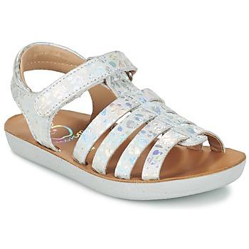 Schoenen Meisjes Sandalen / Open schoenen Shoo Pom GOA SPART Zilver