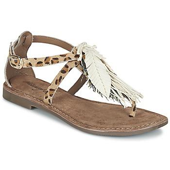 Schoenen Dames Sandalen / Open schoenen Metamorf'Ose ZABOUCHE Brown / Wit