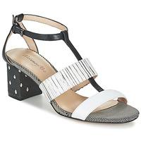 Schoenen Dames Sandalen / Open schoenen Metamorf'Ose ZAFNOLO Zwart / Wit