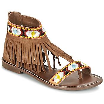 Schoenen Dames Sandalen / Open schoenen Metamorf'Ose ZACCIN Brown