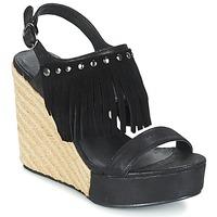 Schoenen Dames Sandalen / Open schoenen LPB Shoes SABINE Zwart