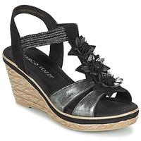 Schoenen Dames Sandalen / Open schoenen Marco Tozzi CHAVELA Zwart