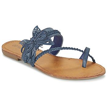 Schoenen Dames Slippers Moony Mood ELIANA Blauw
