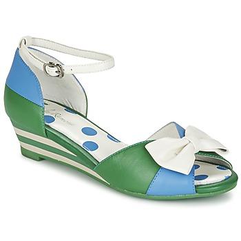 Schoenen Dames Sandalen / Open schoenen Lola Ramona LENNIE Blauw / Groen