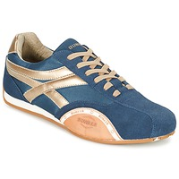 Schoenen Heren Lage sneakers Bunker LEMANS Marine / Goud / Orange