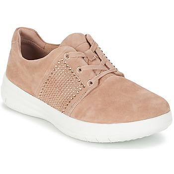 Schoenen Dames Lage sneakers FitFlop SPORTY-POP X CRYSTAL Roze
