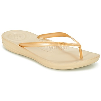 Schoenen Dames Slippers FitFlop IQUSHION ERGONOMIC FLIP-FLOPS Goud