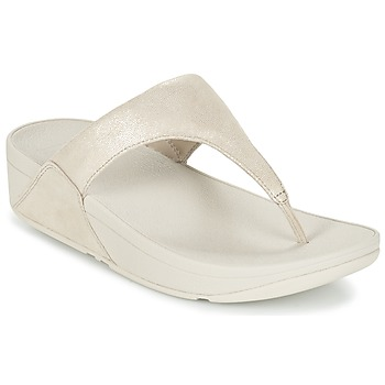 Schoenen Dames Slippers FitFlop SHIMMY SUEDE TOE-POST Goud