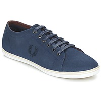 Schoenen Heren Lage sneakers Fred Perry KINGSTON COATED CANVAS Blauw