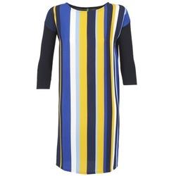 Textiel Dames Korte jurken Benetton VAGODA Blauw / Geel / Wit