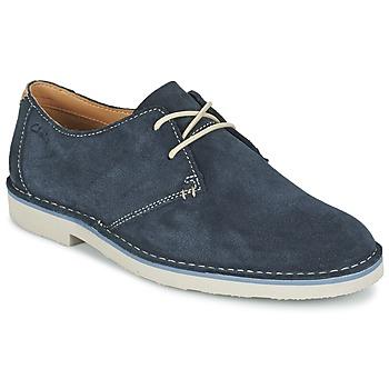 Schoenen Heren Derby Clarks JARETH WALK Blauw