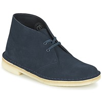 Schoenen Dames Laarzen Clarks DESERT BOOT Blauw
