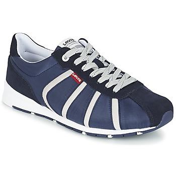 Schoenen Heren Lage sneakers Levi's ALMAYER II Marine / Wit