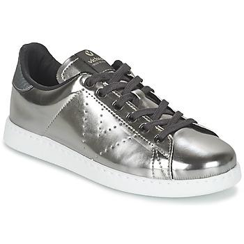 Schoenen Dames Lage sneakers Victoria DEPORTIVO BASKET METALLISE Zilver