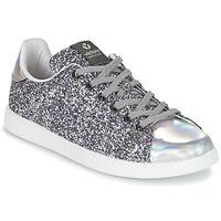 Schoenen Dames Lage sneakers Victoria DEPORTIVO BASKET GLITTER Zilver