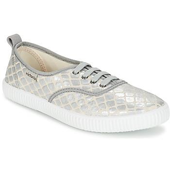Schoenen Dames Lage sneakers Victoria INGLES TEJ PLACA SERPIENTE Zilver