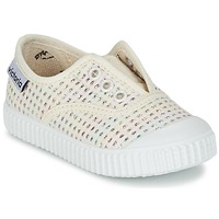 Schoenen Meisjes Lage sneakers Victoria INGLESA LUREX ELASTICO Beige