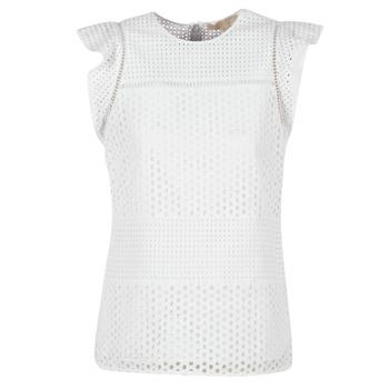 Textiel Dames Tops / Blousjes MICHAEL Michael Kors COMBO EYELET S/S Wit