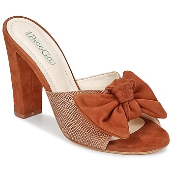 Schoenen Dames Leren slippers Paco Gil BRAZIL Brown