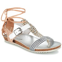 Schoenen Dames Sandalen / Open schoenen Regard RABALU Wit / Beige / Serpent