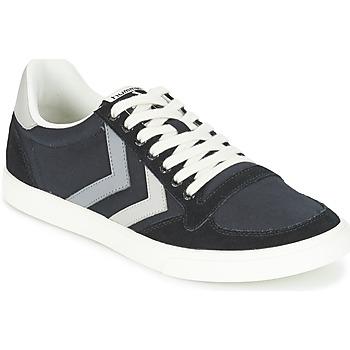 Schoenen Lage sneakers Hummel TEN STAR DUO CANVAS LOW Zwart / Grijs