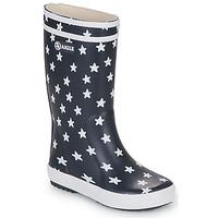 Schoenen Kinderen Regenlaarzen Aigle LOLLY POP PRINT Marine