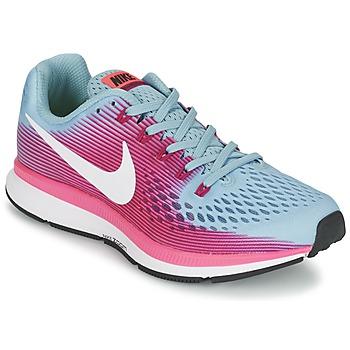 Schoenen Dames Running / trail Nike AIR ZOOM PEGASUS 34 Blauw / Fushia