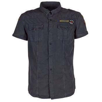 Textiel Heren Overhemden korte mouwen Deeluxe BURTY Grijs