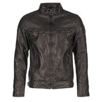 Textiel Heren Leren jas / kunstleren jas Deeluxe SPANGLE Zwart