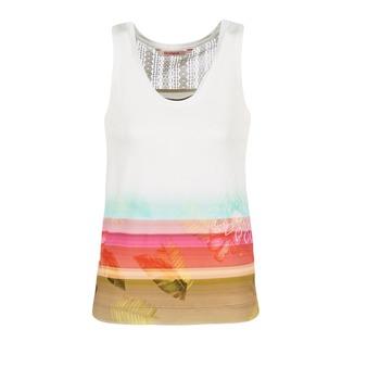 Textiel Dames Mouwloze tops Desigual TEDERI Wit / Multikleuren