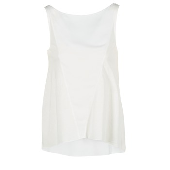Textiel Dames Mouwloze tops Desigual ROMINESSA Wit