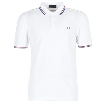 Textiel Heren Polo's korte mouwen Fred Perry TWIN TIPPED FRED PERRY SHIRT Wit