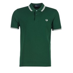 Textiel Heren Polo's korte mouwen Fred Perry TWIN TIPPED FRED PERRY SHIRT Groen
