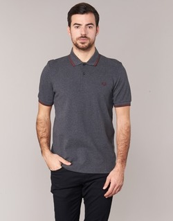 Textiel Heren Polo's korte mouwen Fred Perry TWIN TIPPED FRED PERRY SHIRT Grijs