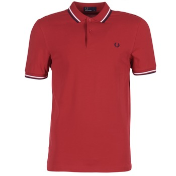 Textiel Heren Polo's korte mouwen Fred Perry TWIN TIPPED FRED PERRY SHIRT Rood