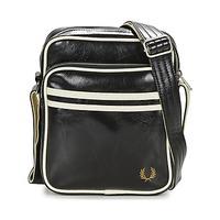 Tassen Heren Tasjes / Handtasjes Fred Perry CLASSIC SIDE BAG Zwart / Wit