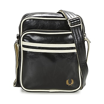 Tassen Heren Tasjes / Handtasjes Fred Perry CLASSIC SIDE BAG Zwart / Wit